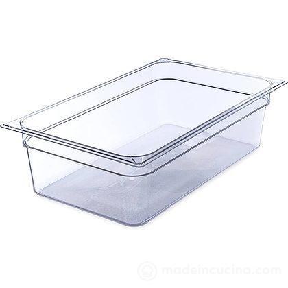 Vaschetta rettangolare alta in policarbonato infrangibile per alimenti