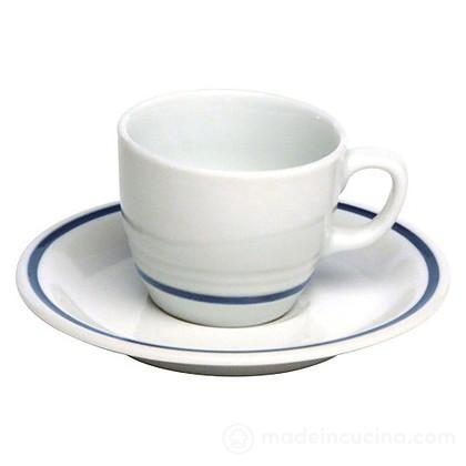 Set 6 tazzine da caffè con piattino Az