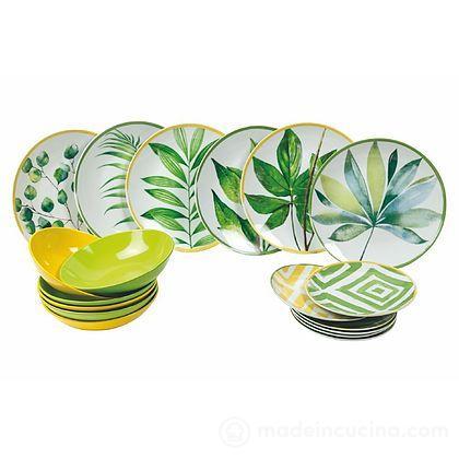 Servizio piatti 18 pezzi Oriental Botanique