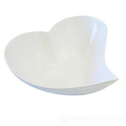 Ciotola amore cm 11 in porcellana bianca