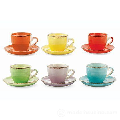 Set 6 tazzine da caffè con piattino Baita