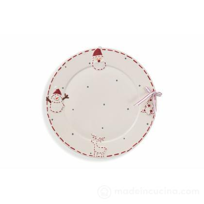 Piatto da portata in ceramica Santa Claus (colori assortiti)