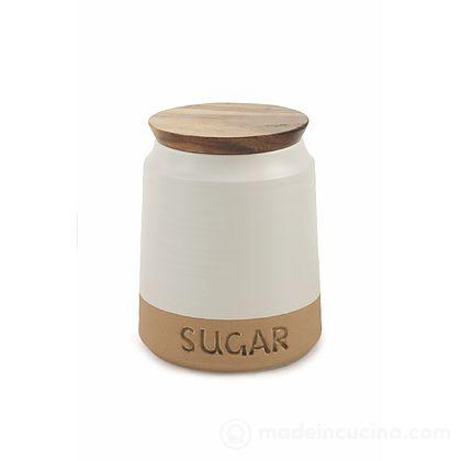 Barattolo zucchero con coperchio in legno Bistrot