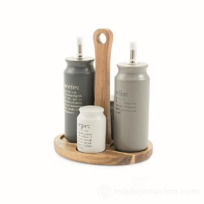 Menage Victionary con stand in legno