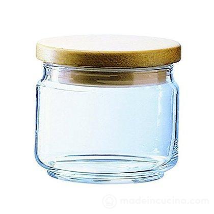 Barattolo in vetro con tappo in legno