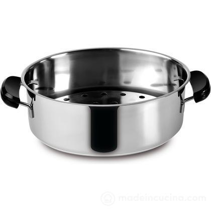 Casseruola ovale coperchio griglia acciaio inox Classico