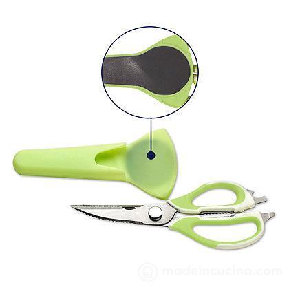 Forbici multifunzione da cucina con fodero magnetico
