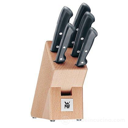 Ceppo in bambù con 5 coltelli Classic Line