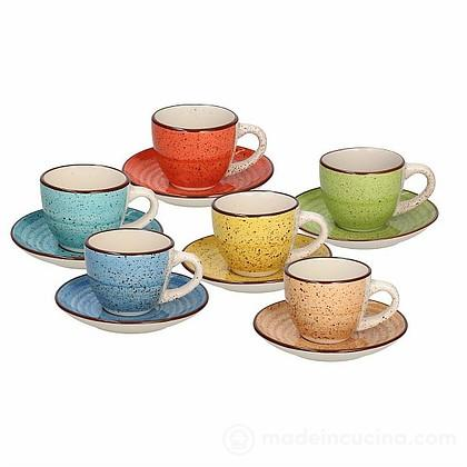 Set 6 tazzine da caffè con piattino Louise Art Pepper