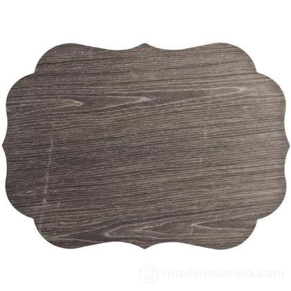 Set 2 sottopiatti effetto legno