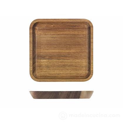 Vassoio quadrato in legno di acacia