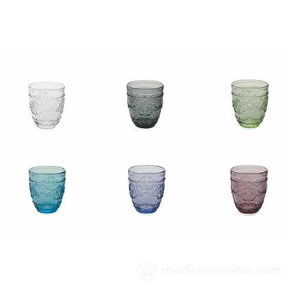 Set 6 bicchieri acqua colorati Syrah New