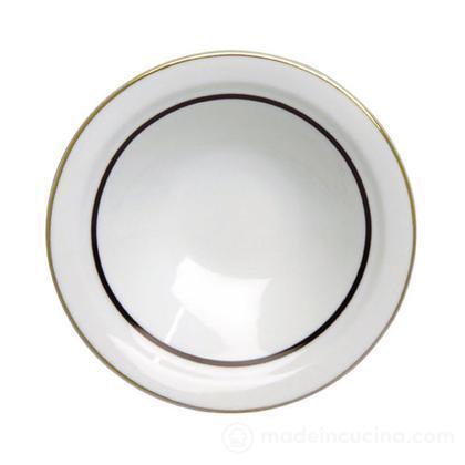 Piatto fondo Saturno Tweed in black cm 22