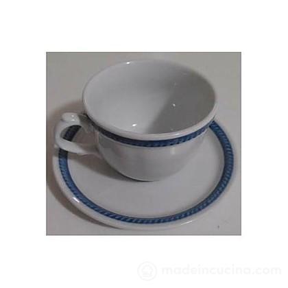 Set 4 tazze da tè con piattino Lido