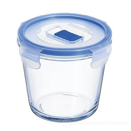 Contenitore tondo in vetro Pure Box con valvola Active