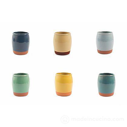 Set 6 bicchieri colorati Casale
