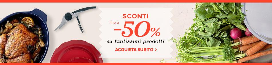 Outlet Madeincucina, tantissimi prodotti subito disponibili fino a -50%!
