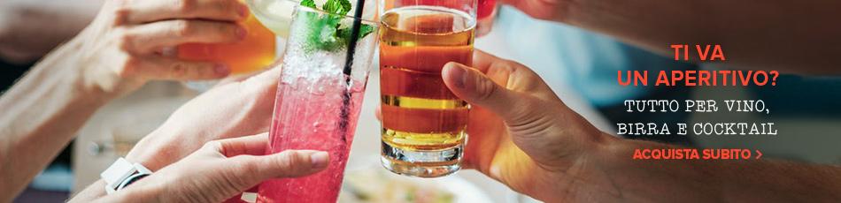 Voglia di aperitivo? Tutto per vino, birra e cocktail