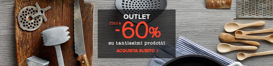 Outlet madeincucina: tanti prodotti subito disponibili con sconti fino a -60%