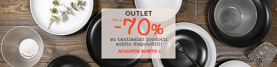 Outlet madeincucina: tantissimi articoli con disponibilità immediata fino a -70%